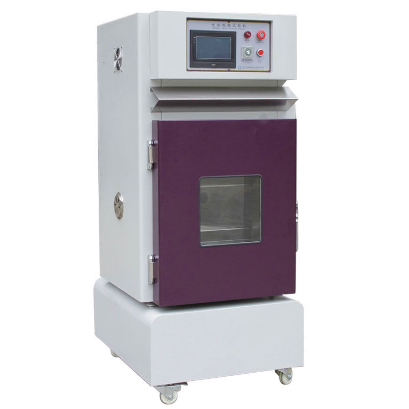 Temperature 10 ℃ ~ 100 ℃ Battery External Short Circuit Testing Equipment With Current Temperaure Voltage Monitoring